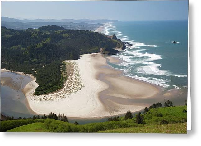 Or, Cascade Head, View Of Beach Greeting Card