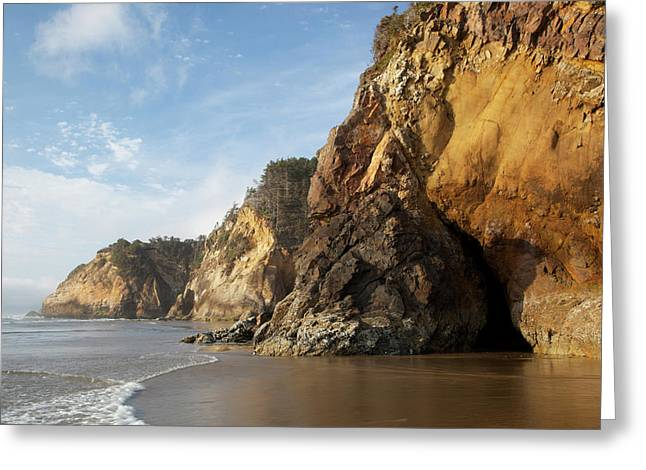 Or, Oregon Coast, Hug Point Greeting Card by Jamie and Judy Wild