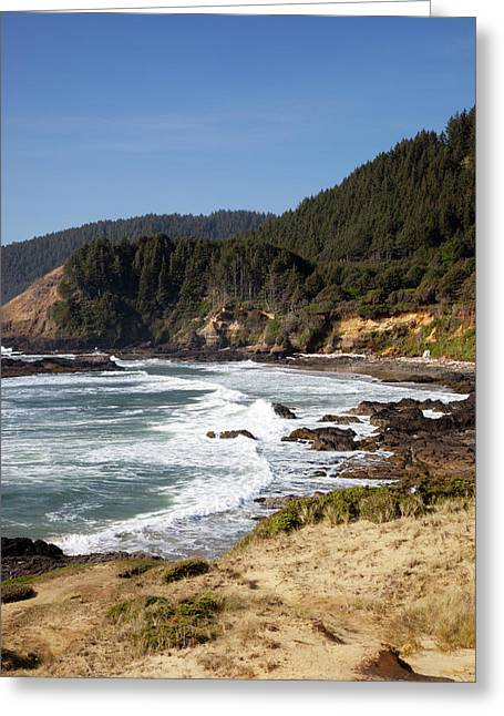 Or, Oregon Coast, View From Strawberry Greeting Card by Jamie and Judy Wild