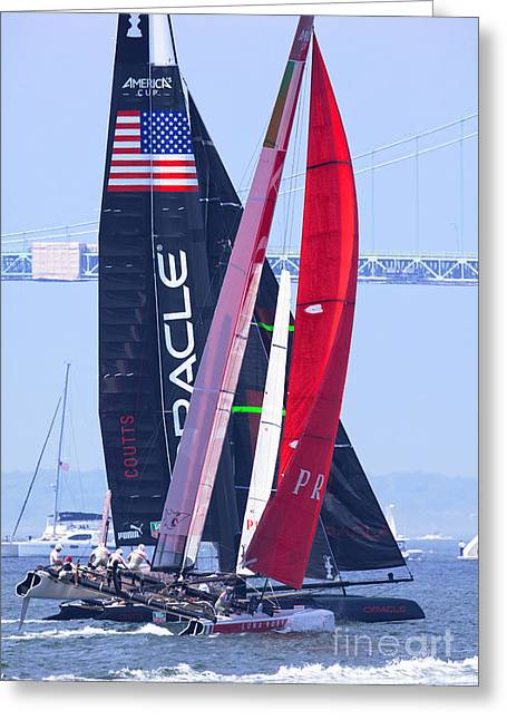 Oracle And Luna Rossa Greeting Card