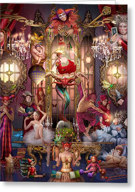 Oracle Of Visions Party Hr Greeting Card by Ciro Marchetti