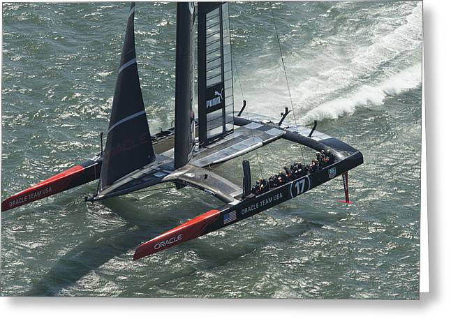 Oracle Team Usa - 3 Greeting Card