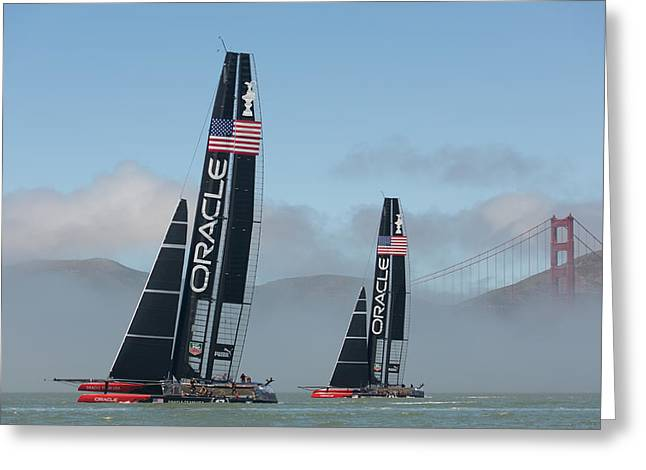 Oracle Team Usa - 2 Greeting Card