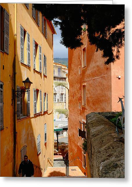 Orange Alley Greeting Card