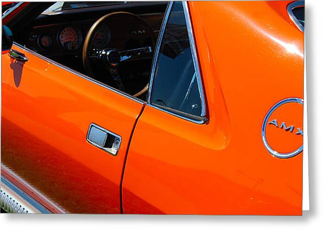 Orange Amx Greeting Card