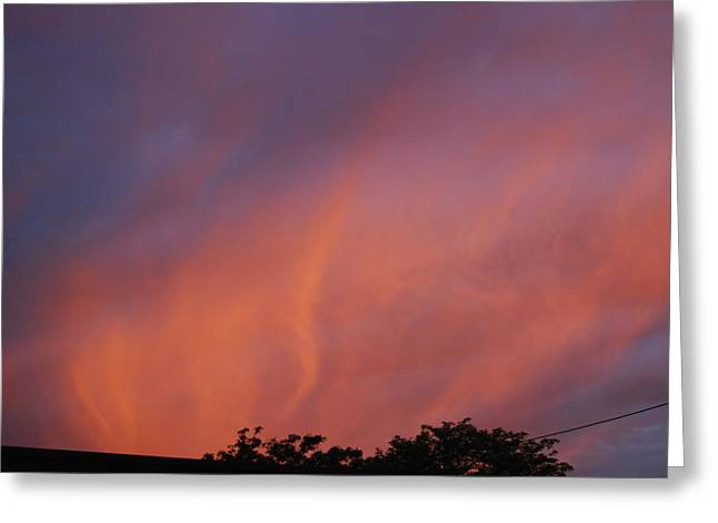 Greeting Card featuring the photograph Orange And Blue Sunset by Ramona Whiteaker