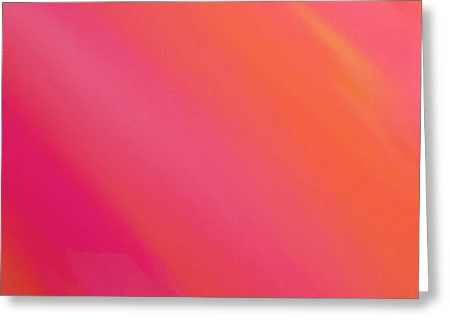 Orange And Raspberry Sorbet Abstract 3 Greeting Card