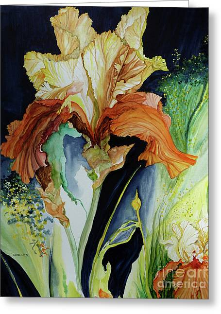 Orange And Yellow Iris Greeting Card
