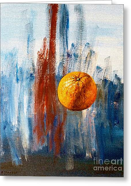 Orange Greeting Card by Arturas Slapsys