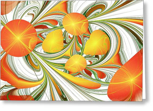 Orange Attitude Greeting Card