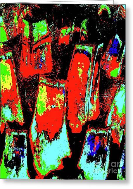 Orange Bark 0001 7 Greeting Card by Nina Kaye