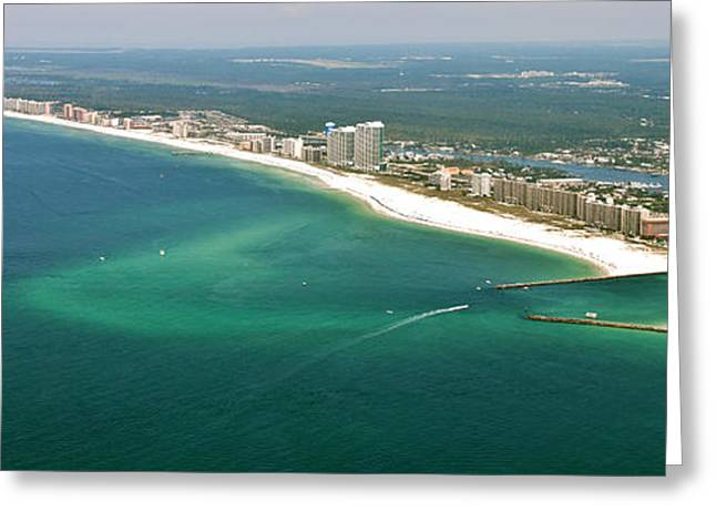 Looking N W Across Perdio Pass To Gulf Shores Greeting Card
