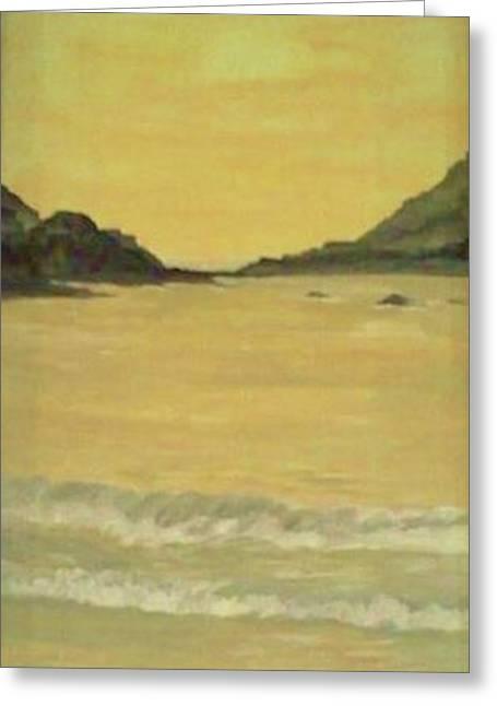 Orange Beach Greeting Card by Christy Saunders Church