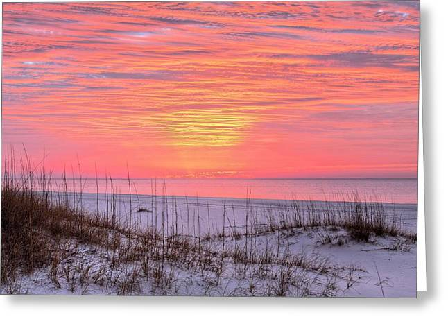 Orange Beach Sunrise Greeting Card by JC Findley