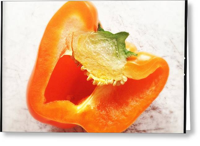 Orange Bell Pepper - Square Format Greeting Card
