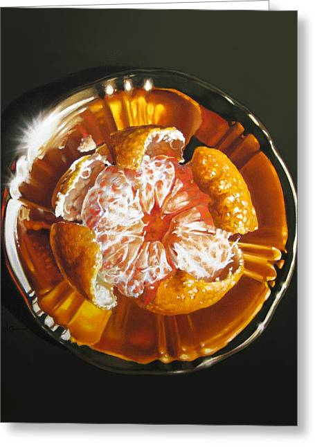 Orange Blossom Special Greeting Card by Dianna Ponting