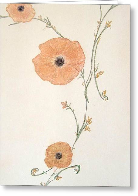 Orange Blossoms Greeting Card