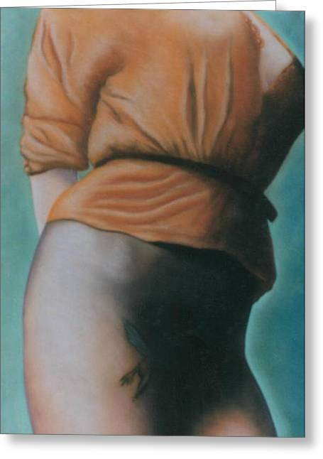 Orange Blouse Greeting Card by Mary Ann  Leitch