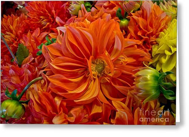 Orange Bouquet Greeting Card