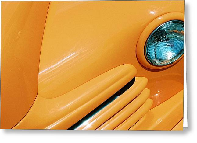 Orange Car Greeting Card