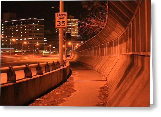 Orange City 2 Greeting Card by Derek Woodley