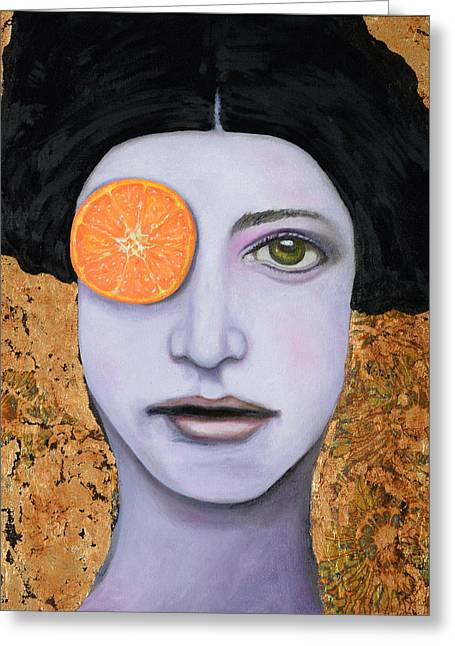 Orange Crush Greeting Card by Leah Saulnier The Painting Maniac