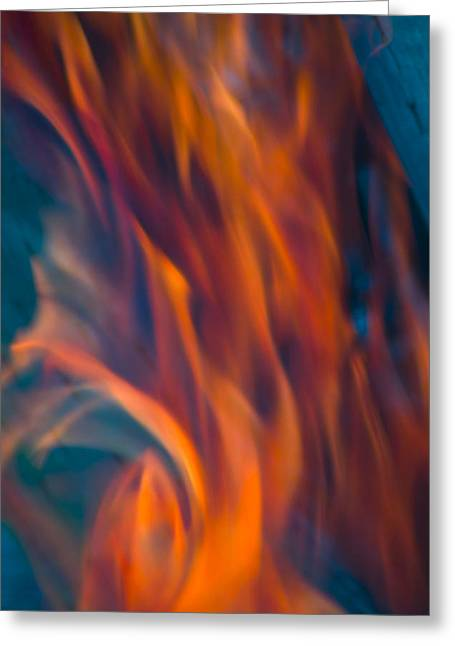 Orange Fire Greeting Card