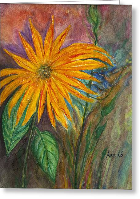 Orange Flower Greeting Card by Anais DelaVega