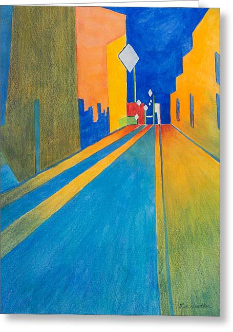 Orange France At Night Greeting Card by Lee Beuther