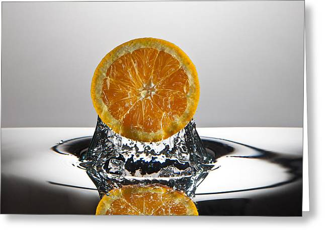Orange Freshsplash Greeting Card by Steve Gadomski