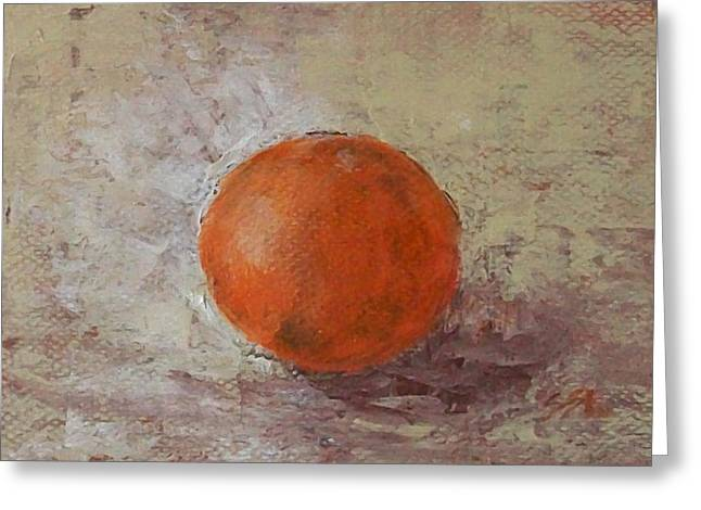 Greeting Card featuring the painting Orange by Jane  See