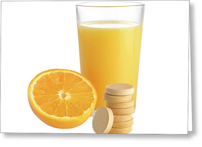 Orange Juice Greeting Card by Science Photo Library