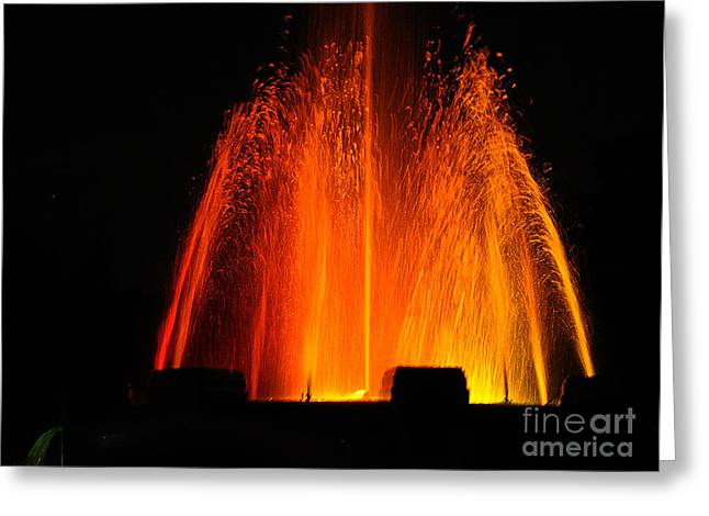 Greeting Card featuring the photograph Orange Lava by Clayton Bruster