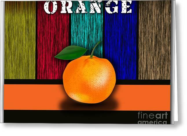 Orange Greeting Card by Marvin Blaine