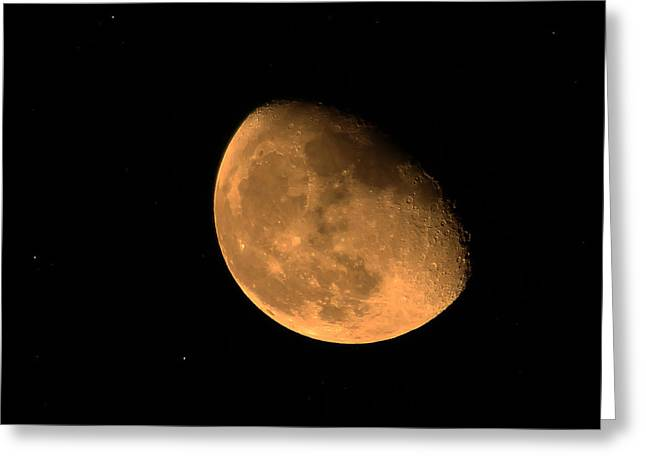 Orange Moon Greeting Card