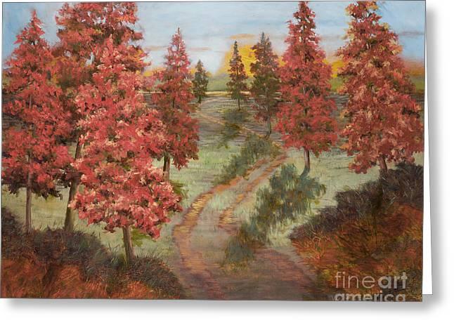 Orange Pines Greeting Card