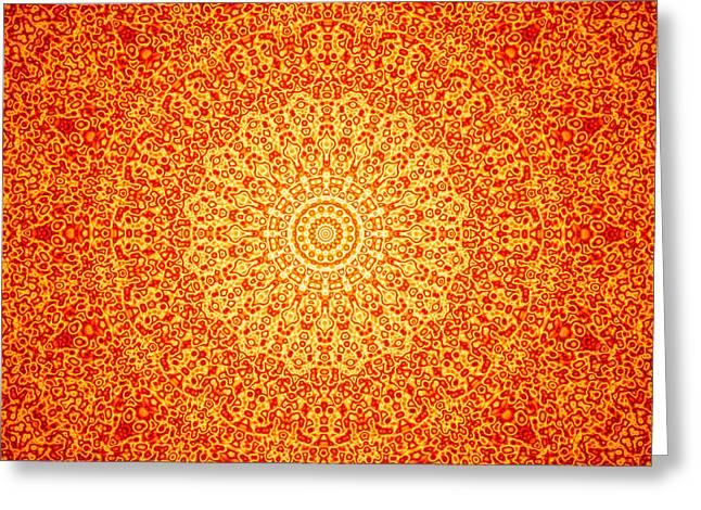 Orange Quasicrystal Greeting Card by Dan Gries