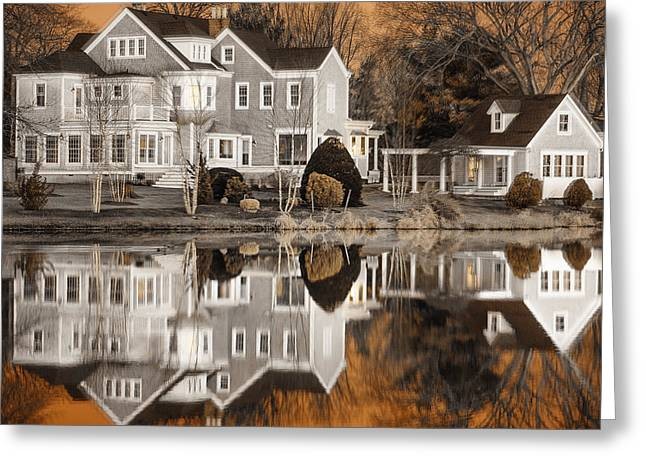 Orange Reflection Greeting Card by Vicki Jauron