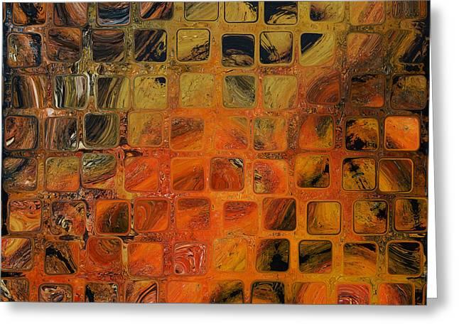 Orange Sea  Greeting Card by Andrada Anghel