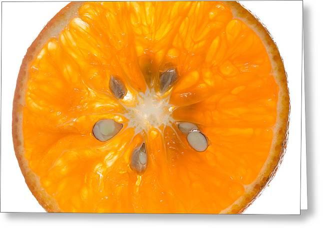 Orange Slice Greeting Card by Steve Gadomski