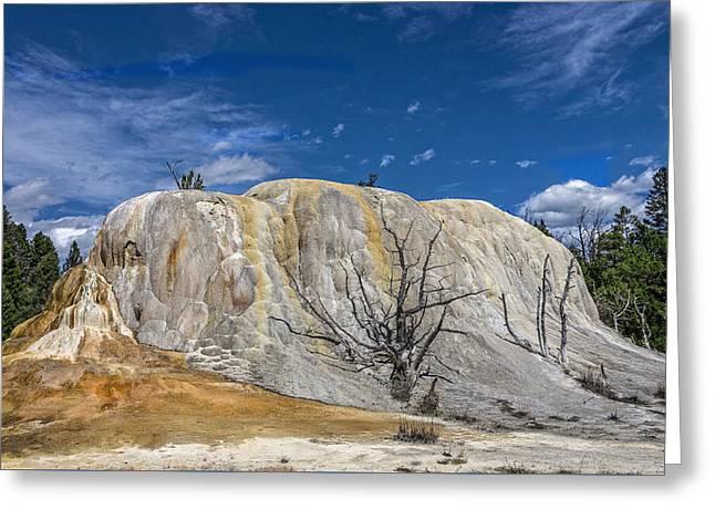 Orange Spring Mound Yellowstone National Park Greeting Card