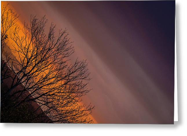 Orange Sunrise Greeting Card
