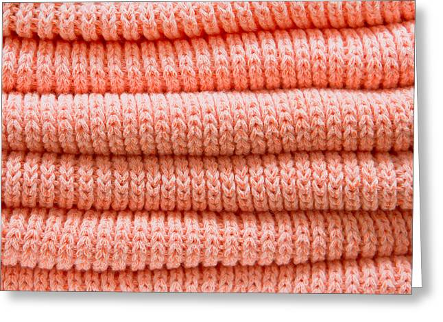 Orange Sweaters Greeting Card