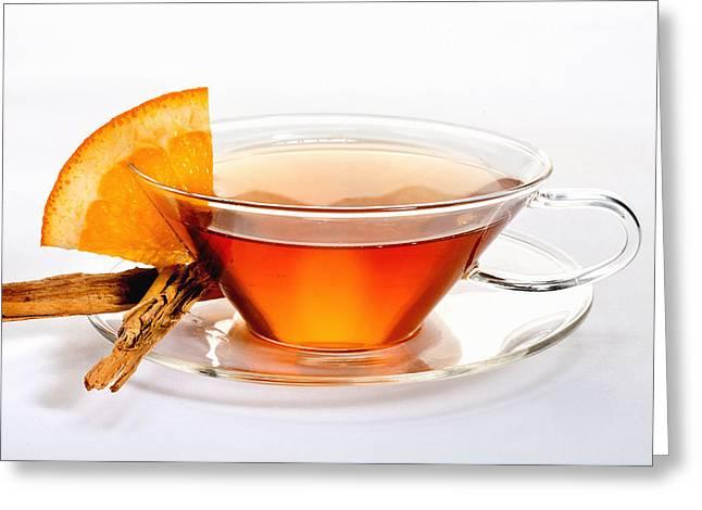 Orange Tea 5528 Greeting Card