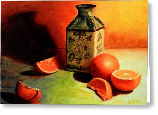 Orange Temptation, Peru Impression Greeting Card