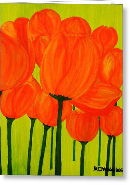 Orange Tulip Pops Greeting Card