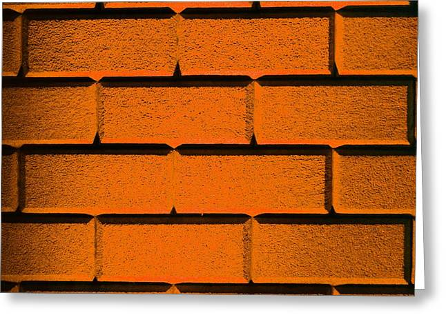 Orange Wall Greeting Card by Semmick Photo