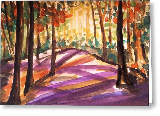 Orange Woods Greeting Card