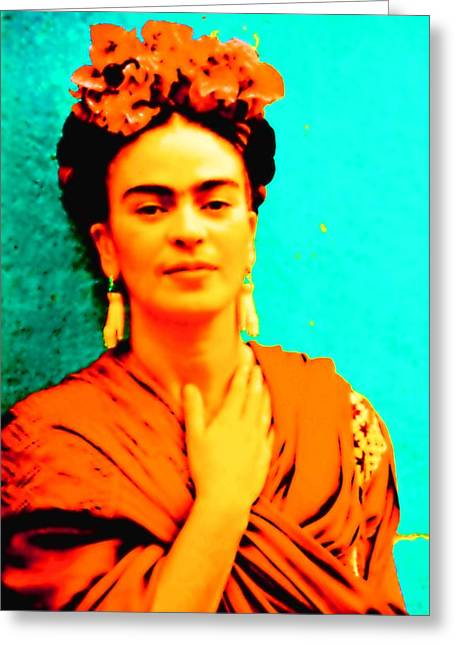 Orange You Glad It Is Frida Greeting Card