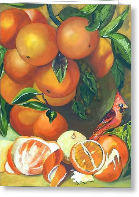 Oranges And Lemons Greeting Card by Susan Robinson